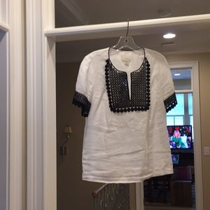 J Crew back and white cotton top (ml)